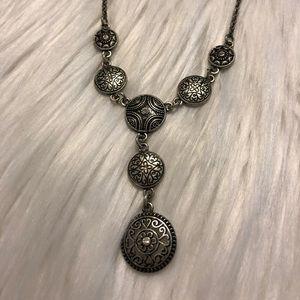 Lia Sophia Silver Drop Necklace